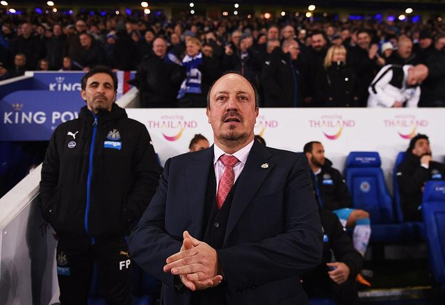 Rafa Benitez's first game as Newcastle United manager came in a 1-0 defeat at Leicester City in 2016. (Photo by Michael Regan/Getty Images)