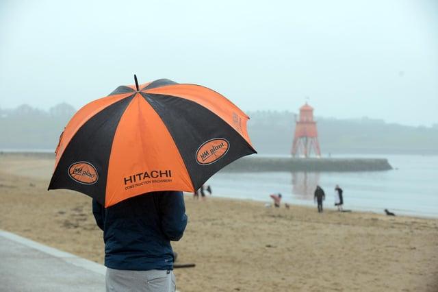 Rain fall at Littlehaven beach.