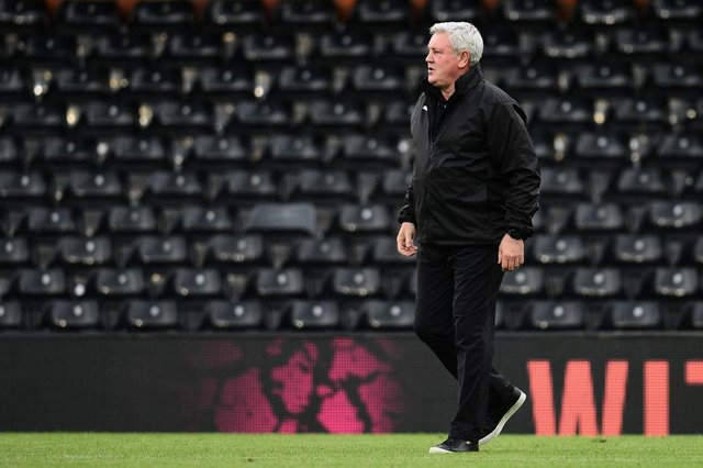 Steve Bruce, manager of Newcastle United. (Photo by Alex Broadway/Getty Images)