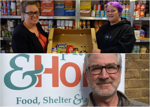 Angie Comerford, co-founder of Hebburn Helps (above); Hospitality and Hope CEO, Brian Thomas (below)