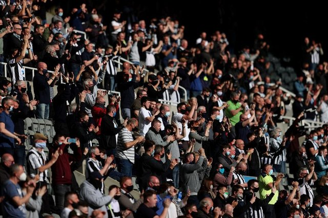A group of Newcastle United fans are preparing for a trip to the capital. (Photo by Alex Pantling/Getty Images)
