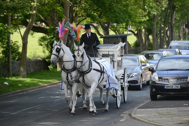 The funeral of Robbie Elliott, three, was held at St Mark & St Cuthbert's Church in South Shields.