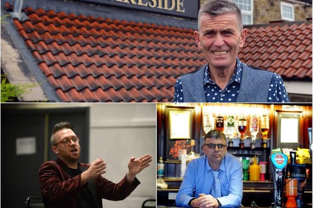 Lakeside Inn manager, Carl Mowatt (above); Ziggy's Bar owner, Stephen Sullivan (below, left); Lee Hughes, of the Red Hackle pub in Jarrow (below, right)