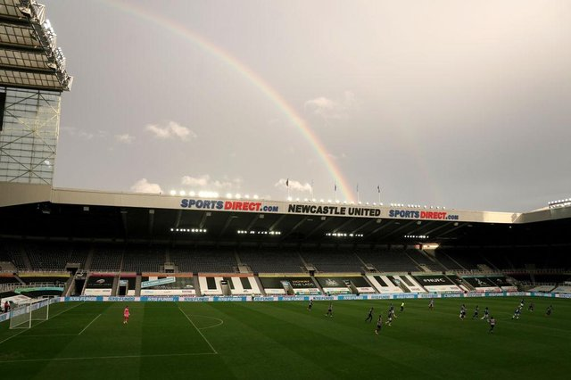 St James's Park, the home of Newcastle United Football Club. (Photo by Owen Humphreys - Pool/Getty Images)