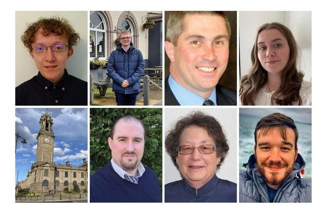Top (l-r) Jack Ford, Ethan Thoburn, Mark Walsh, Tia Sinclair Bottom (l-r) Oliver Wallhead, Ruth Berkley, Andrew Guy
