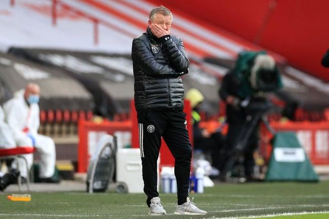 Former Sheffield United manager Chris Wilder.