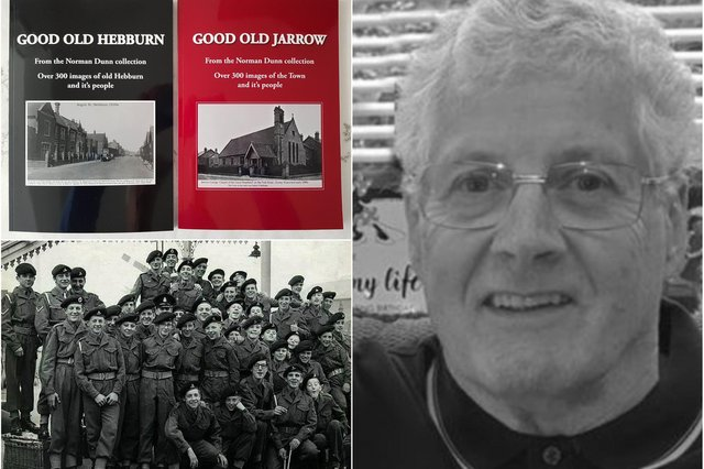 Norman Dunn and some of the new books he has published.