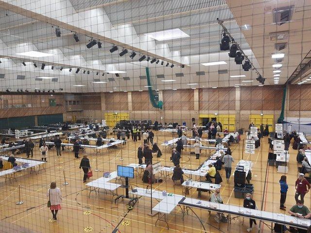 The South Tyneside Council election count 2021