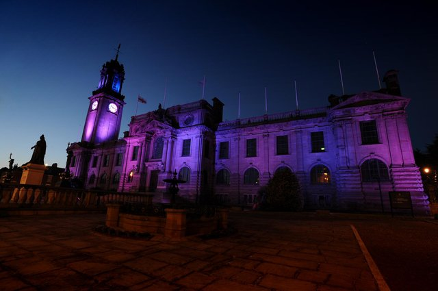 South Shields town hall will be lit pink and blue to remember Liam and Chloe