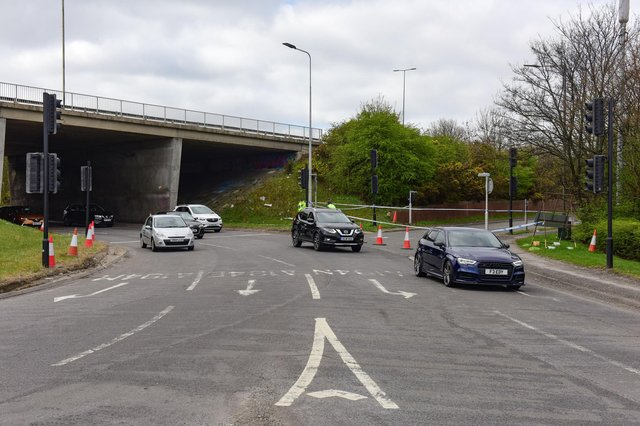 The eastbound slip road from the A184 onto the A194 was closed at the Whitemare Pool junction on Saturday, April 3, but has since reopened.