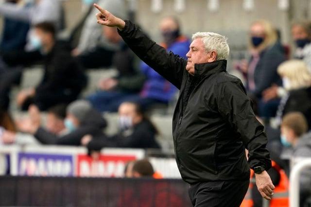 Newcastle United head coach Steve Bruce. (Photo by OWEN HUMPHREYS/POOL/AFP via Getty Images)
