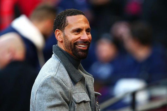 Former Manchester United defender Rio Ferdinand responded to a tweet by a Newcastle United fan. (Photo by Charlie Crowhurst/Getty Images)