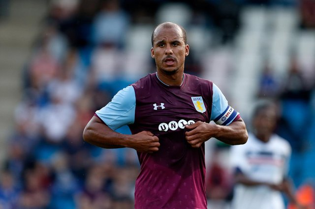 TELFORD, ENGLAND - JULY 12: Gabriel Agbonlahor of Aston Villa during the Pre-Season Friendly between AFC Telford United and Aston Villa at New Bucks Head Stadium on July 12, 2017 in Telford, England. (Photo by Malcolm Couzens/Getty Images)