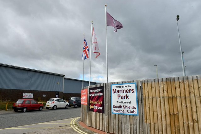 Mariners Park, the home of South Shields FC.