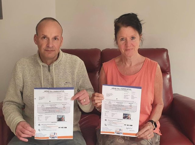 Henry and Lesley Pearce, pictured with the fines they received, hope their story will act as a warning to others.
