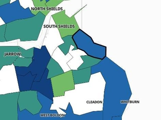 The areas of South Tyneside where Covid cases have risen