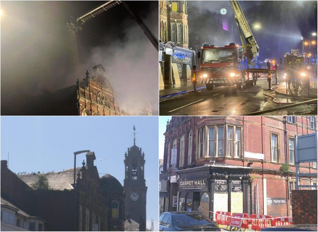 The fire took place at the Victoria Hall building in Fowler Street, South Shields.