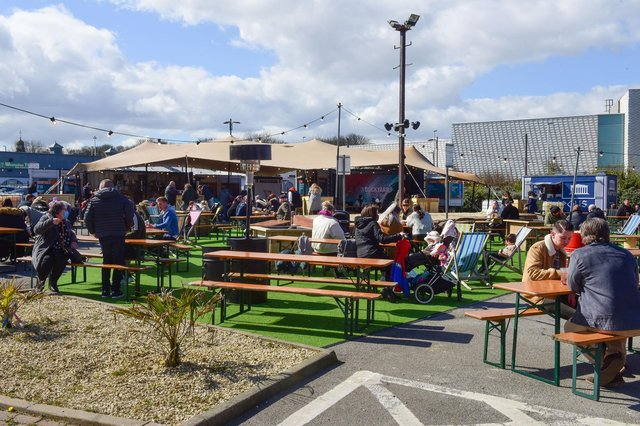 The Dockyard features live music and street food.