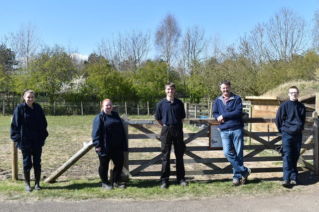 From left, Amy Hall, Chloe Selkirk, Daniel Hayward-Pattinson, Groundwork chief executive Andrew Watts, and Kyle Johnson.