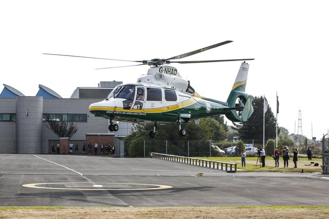 The Great North Air Ambulance Service was called to South Shields today Photo supplied by GNAAS