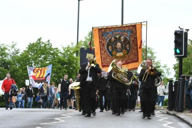The 2019 march from Jarrow to remember the Seven Men of Jarrow. Picture by Kevin Brady.