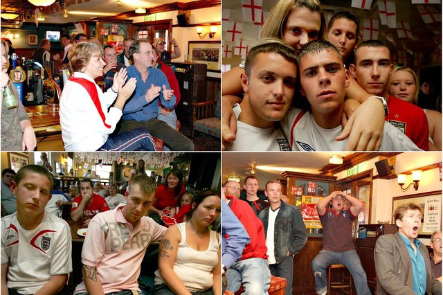 England fans have gone through the wringer when it comes to watching quarter finals, as these South Tyneside retro photos show.