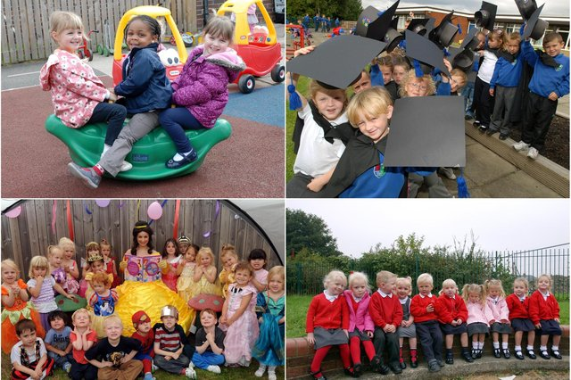 Having fun at nursery. See if you can spot someone you know.