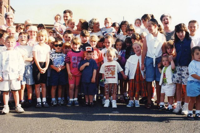 These young day trippers gathered in the Prince of Wales car park before their 1990s visit to Flamingoland. Did you love the 90s best of all?