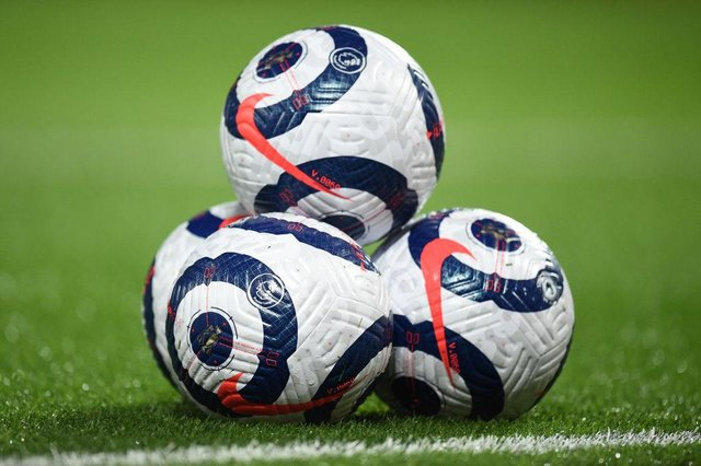 Premier League match balls. (Photo by Oli Scarff - Pool/Getty Images)