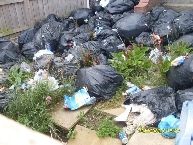 The rubbish in Mill Lane.