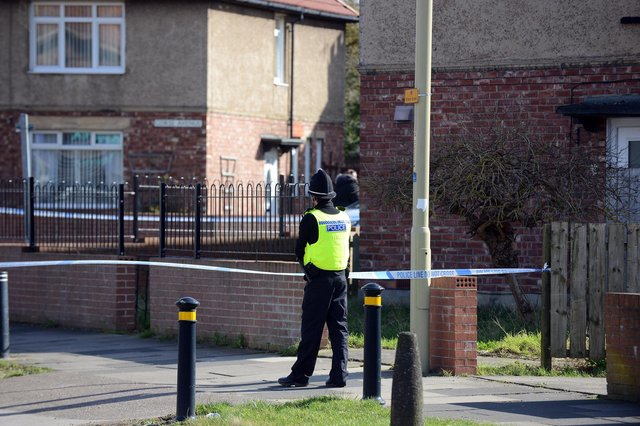 A police cordon was in place on Gorse Avene and Prince Edward Road, South Shields following the incident.