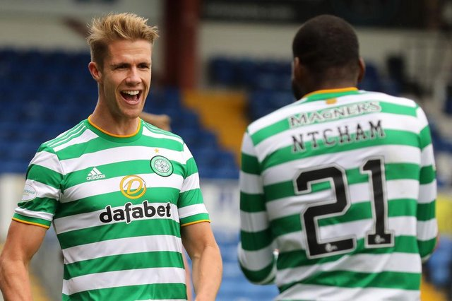Newcastle United have been strongly linked with Celtic defender Kristoffer Ajer. (Photo by Paul Campbell/Getty Images)