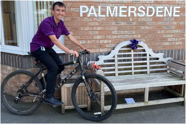 Palmersdene care assistant Jack Brow is taking part in the challenge.