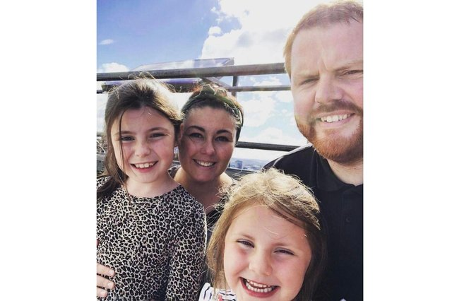 Keir and Rachelle with daughters Willow and Everly