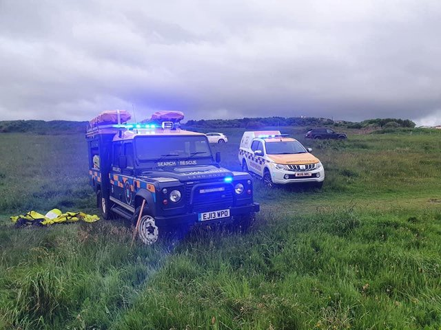Rescue teams were called to Marsden early  on Friday./Photo: Sunderland Coastguard Rescue Team