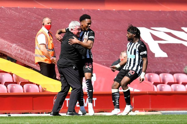 Newcastle United head coach Steve Bruce has won the Premier League manager of the month award for April.  (Photo by Paul Ellis - Pool/Getty Images)