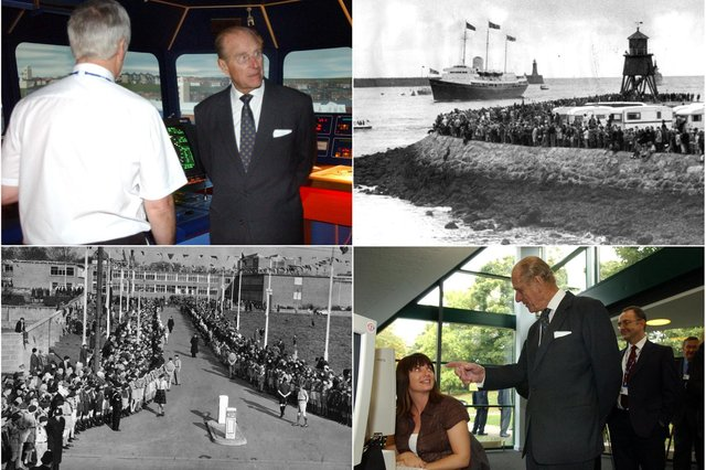A reminder of Prince Philip's visits to the area.