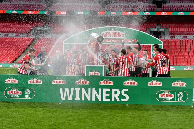 Sunderland won the Papa John's Trophy final at Wembley, beating Tranmere Rovers.