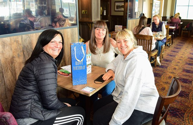 Picture at The Wouldhave, South Shields, Christine Barnes, Michelle Anderson and Diane Everett