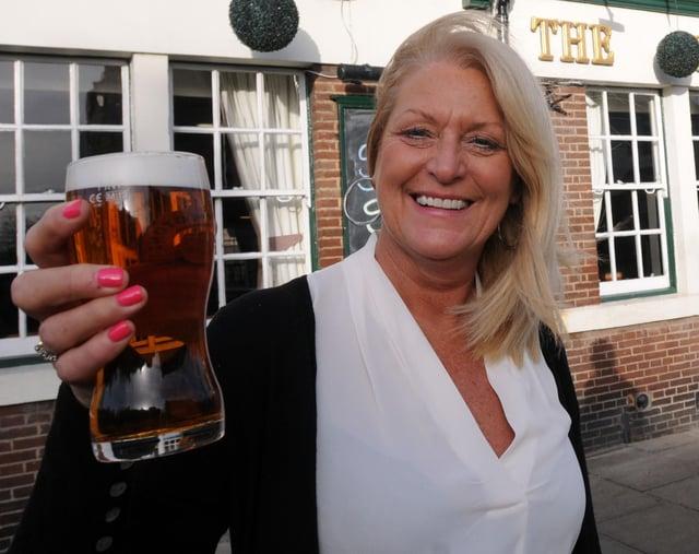 The Lord Nelson landlady Lesley Hunter