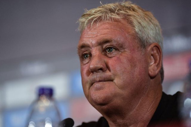 Steve Bruce speaks to the media during the club's pre-season tour of China in 2019.