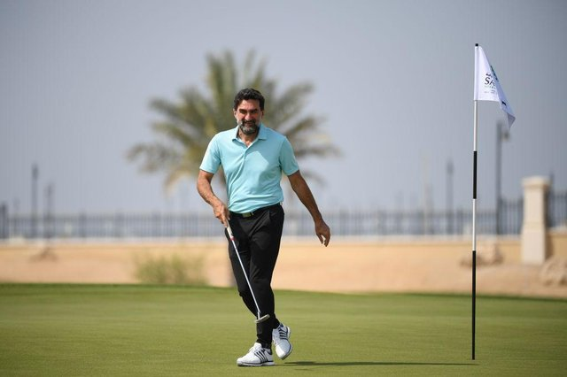 His Excellency Yasir Al-Rumayyan, Chairman Saudi Golf Federation,during a practice round prior of the Saudi International powered by SoftBank Investment Advisers at Royal Greens Golf and Country Club on February 02, 2021 in King Abdullah Economic City, Saudi Arabia.