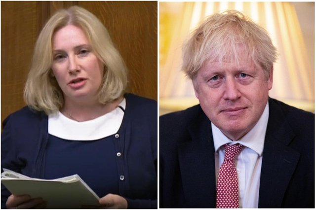 Emma Lewell-Buck and Boris Johnson clashed during Prime Minister's Questions