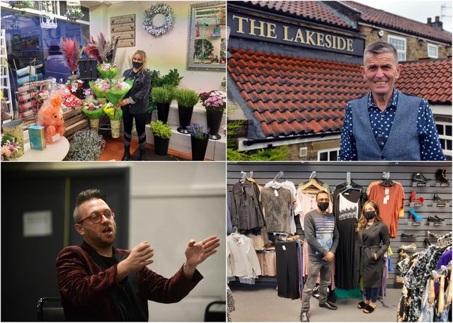South Tyneside business owners, clockwise: Courtney Dadswell, from Marion's Florist (top left); Carl Mowatt, manager at the Lakeside Inn (top right); Stephen Sullivan, owner of Ziggy's Bar (bottom left); Kaz Chowdhury and Syeda Khatun, from Outlet Clothing (bottom right)
