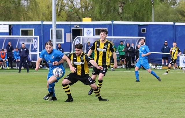 Hebburn Town players in action. Picture credit Andrew Machin.