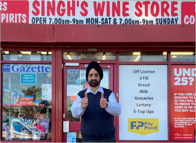 Harinder Singh has owned his wine store for the last 40 years. (Photo by Jam Prints and marketing - Geeta Ral)