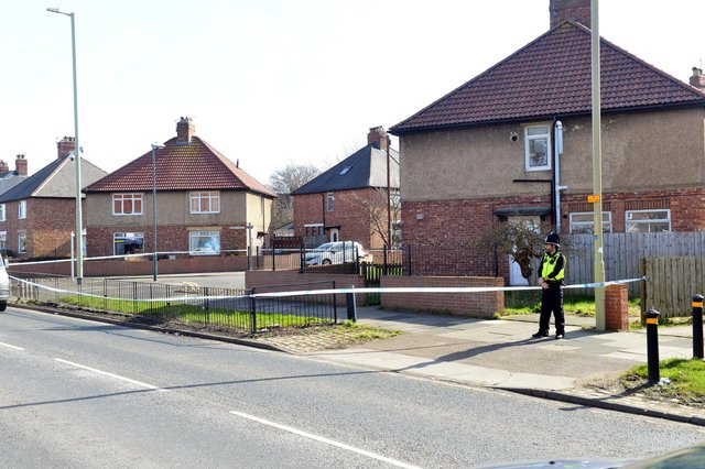 A police cordon was in place on Gorse Avenue and Prince Edward Road, South Shields, on Monday, March 15.