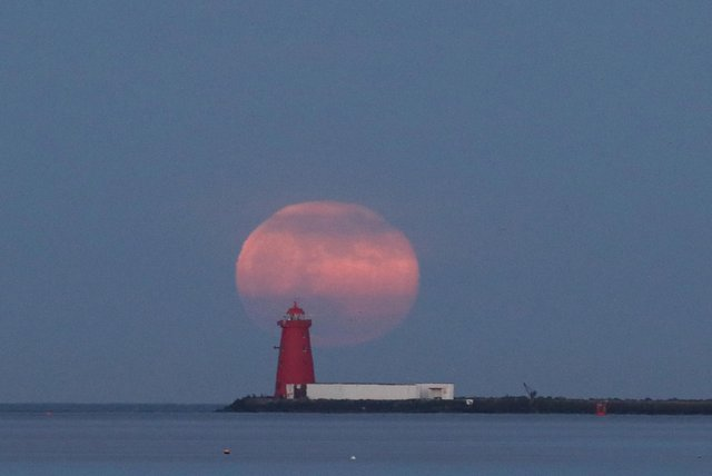 A pink supermoon is set to brighten the night skies over the UK this week