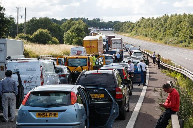 Summer traffic is expected to be worse than usual as many people opt to holiday in the UK rather than overseas