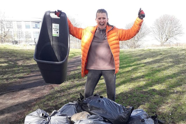 Debbie Upperton will be taking part in the Captain Tom bank holiday litter picking challenge.